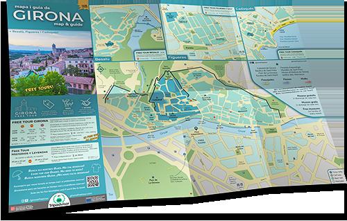 Mapa de Girona Free Tour